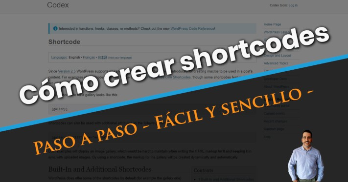 Cómo crear shortcodes en WordPress