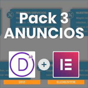 Pack 3 anuncios