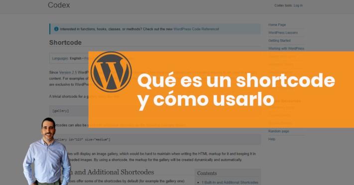 ¿Qué es un shortcode de WordPress?